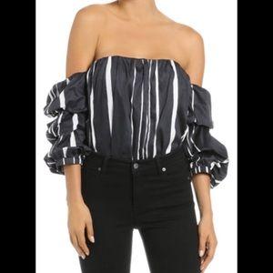Bardot Caught Sleeve Bustier Top XS